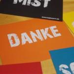 """Postkarte """"DANKE"""" (10 Stück)"""