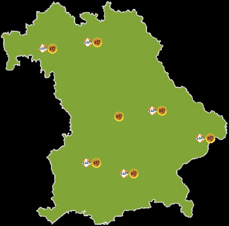 Bayern Karte der LAG